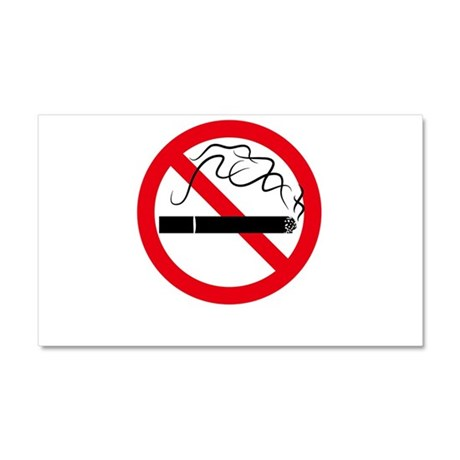 No Smoking Car Magnet 20 x 12