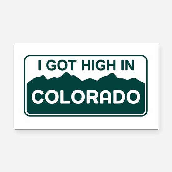 CO - Colorado Rectangle Car Magnet