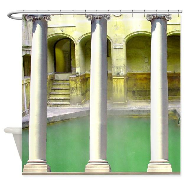 Roman Baths Shower Curtain By InspirationzStore