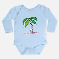 Tropical Christmas Long Sleeve Infant Bodysuit