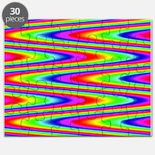 Psychedelic Rainbow Zig Zag Pattern Puzzle