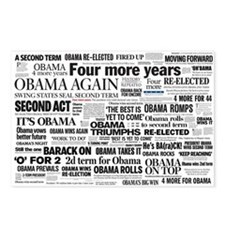 Obama Win 2012 Headline Collage Postcards (Package