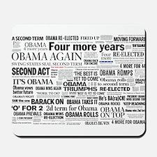 Obama Win 2012 Headline Collage Mousepad