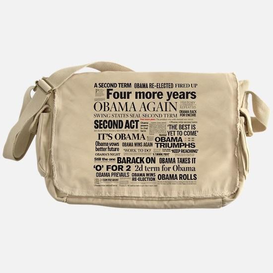 Obama Re-Elected Headline Messenger Bag