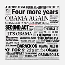 Obama Re-Elected Headline Tile Coaster