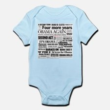 Obama Re-Elected Headline Infant Bodysuit