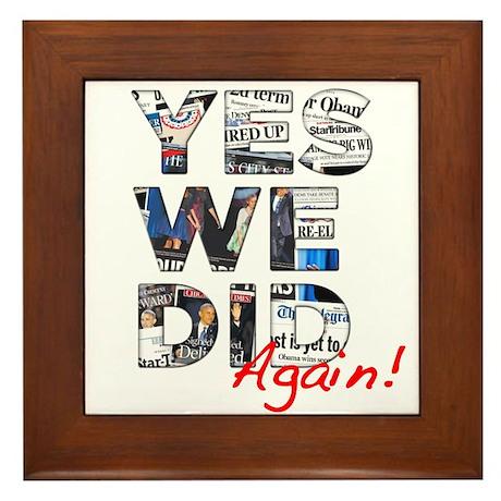 Yes We Did (Again): Obama 2012 Framed Tile