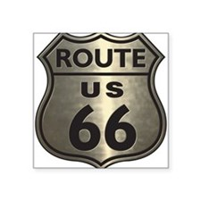 Chrome Route66 Rectangle Sticker