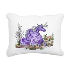 unicorn mom and babe purple Rectangular Canvas Pil