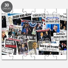 Obama Wins 2012 Newspaper Puzzle
