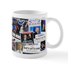 Obama Wins 2012 Newspaper Mug