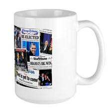 Obama Wins 2012 Newspaper Mug
