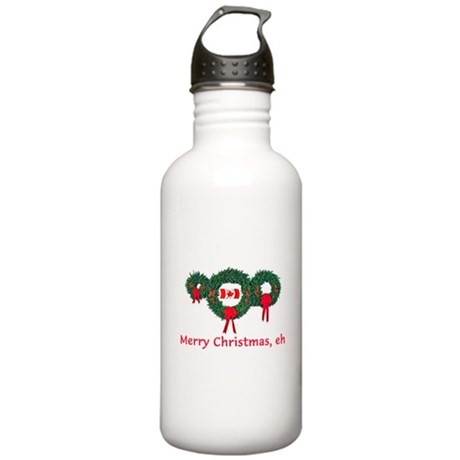 Canada Christmas 2 Stainless Water Bottle 1.0L