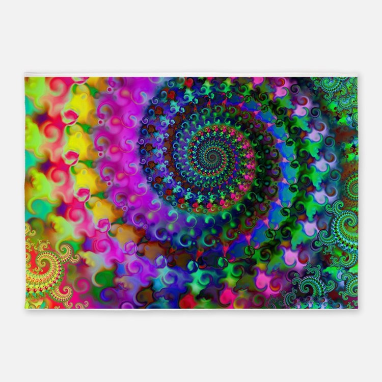Funky Rainbow Colored Area Rugs: Psychedelic Rugs, Psychedelic Area Rugs