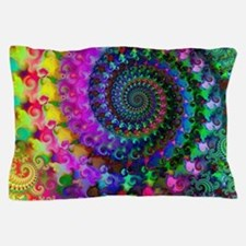 Psychedelic Rainbow Fractal Pillow Case