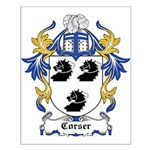 Corser Coat of Arms Small Poster