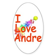I Love Andre Oval Decal