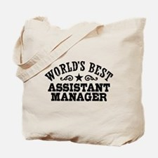 World's Best Assistant Manager Tote Bag