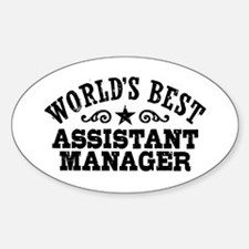 World's Best Assistant Manager Decal