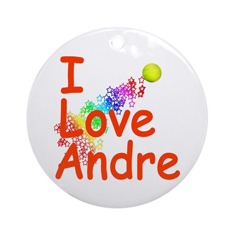 I Love Andre Ornament (Round)
