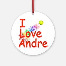 I Love Andre Ornament (Round)
