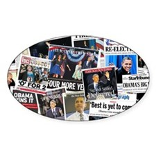 Barack Obama 2012 Re-Election Collage Decal
