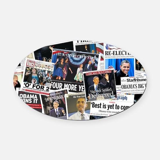 Barack Obama 2012 Re-Election Oval Car Magnet