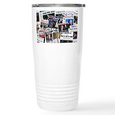 Barack Obama 2012 Re-Election Collage Thermos Mug
