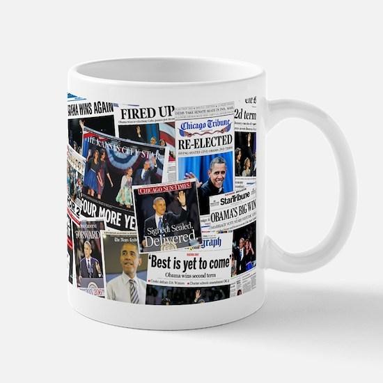 Barack Obama 2012 Re-Election Collage Mug