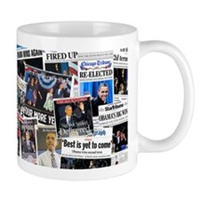 Barack Obama 2012 Re-Election Collage Small Mug