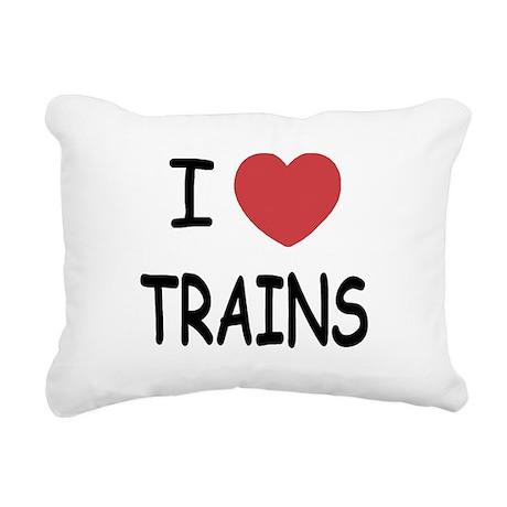 TRAINS.png Rectangular Canvas Pillow