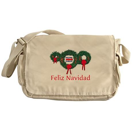 Costa Rica Christmas 2 Messenger Bag
