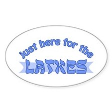 Here for the latkes Decal