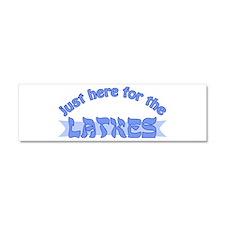 Here for the latkes Car Magnet 10 x 3