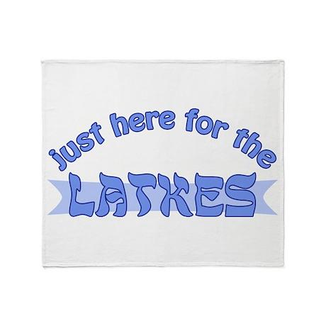 Here for the latkes Throw Blanket