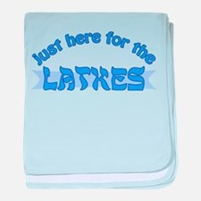 Here for the latkes baby blanket