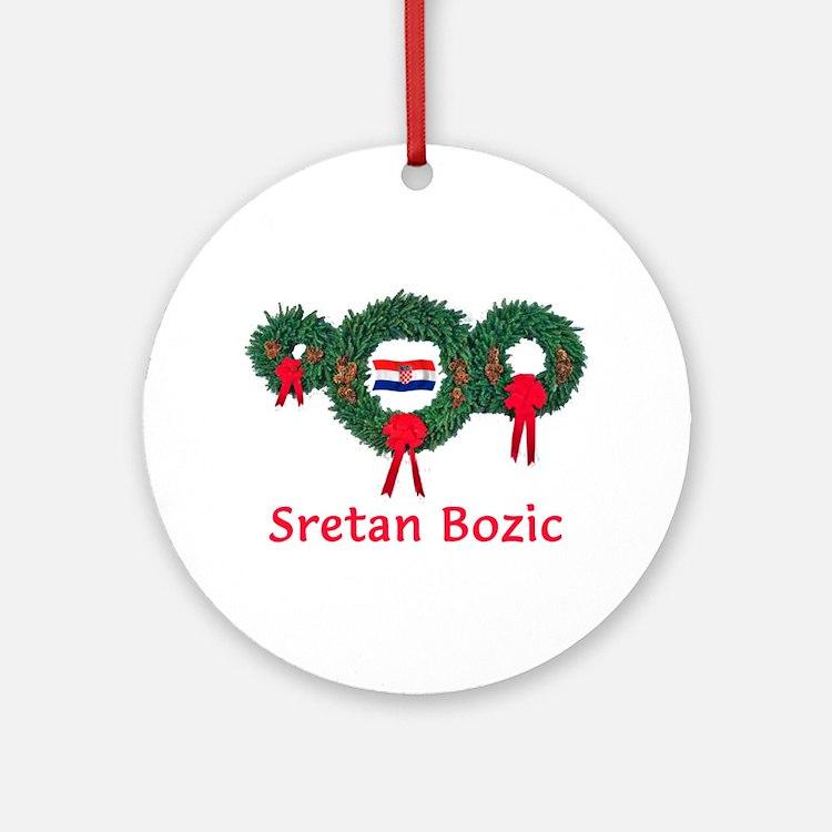 Croatia Christmas 2 Ornament (Round)