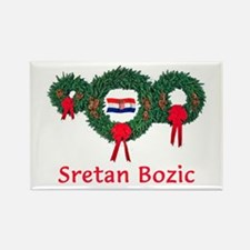 Croatia Christmas 2 Rectangle Magnet