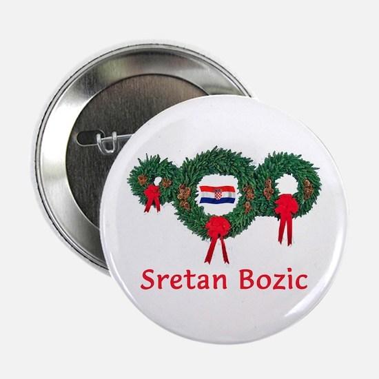 "Croatia Christmas 2 2.25"" Button"