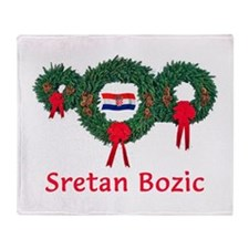 Croatia Christmas 2 Throw Blanket