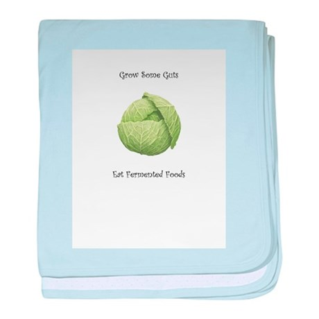 Eat Fermented Foods baby blanket