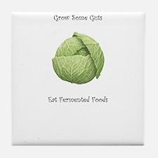 Eat Fermented Foods Tile Coaster