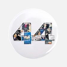 "44: Obama Inauguration Newspaper 3.5"" Button"