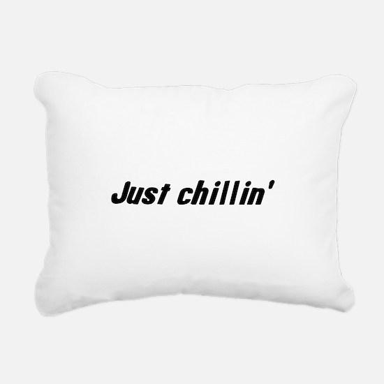 just_chillin.png Rectangular Canvas Pillow