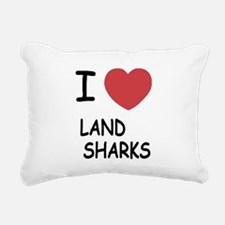 LAND_SHARKS.png Rectangular Canvas Pillow