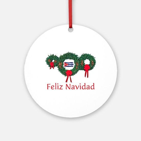 Cuba Christmas 2 Ornament (Round)