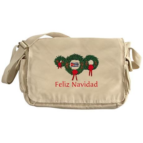 Cuba Christmas 2 Messenger Bag
