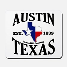 Austin, Texas - Texas Hill Country Towns Mousepad