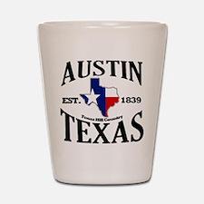 Austin, Texas - Texas Hill Country Towns Shot Glas