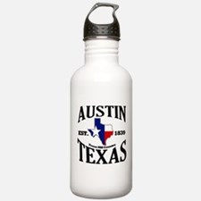 Austin, Texas - Texas Hill Country Towns Water Bottle